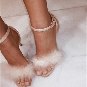 Dusty pink Feather heels
